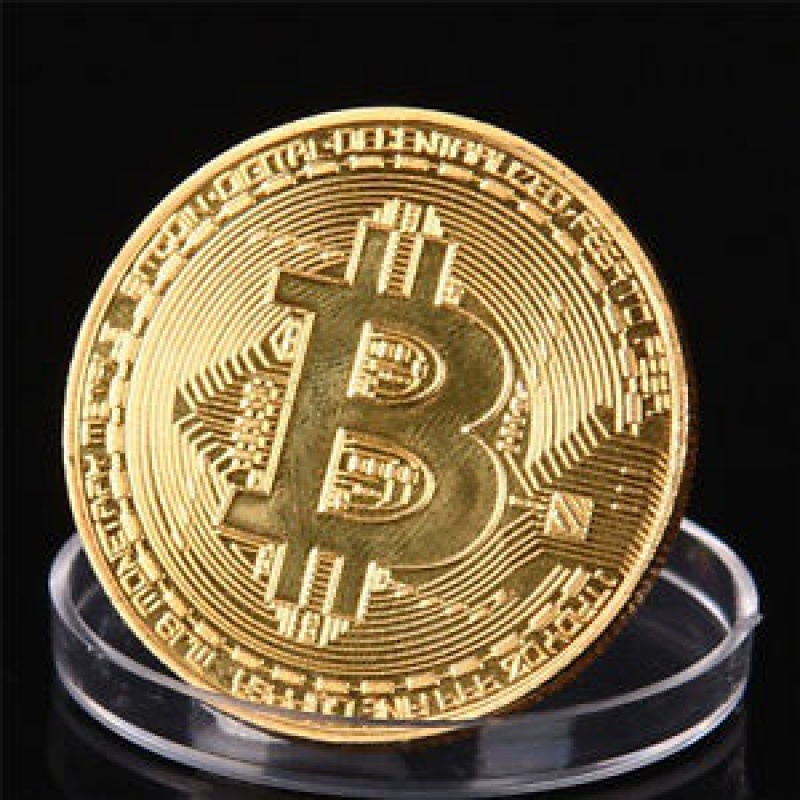 Monedă decorativă Bitcoin | bestcadouri.ro